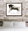 Canvas 21 x 16 Inch Horse Series Framed Limited Edition Digital Art Print by Sunil Sarkar by ArtCollective