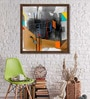 Canvas 21 x 21 Inch Metropolitan Heights - 2 Framed Limited Edition Digital Art Print by Prabhinder Lall by ArtCollective