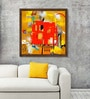 Canvas 21 x 21 Inch Urban and Rural Scape Framed Limited Edition Digital Art Print by Prabhinder Lall by ArtCollective