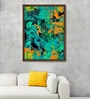 Canvas 27 x 37 Inch Bustling Blues Framed Limited Edition Digital Art Print by Parbbonni Bhowmik by ArtCollective