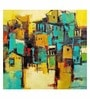 ArtCollective City Canvas 18 x 18 Inch Framed Art Print