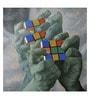 ArtCollective Rubik's Cube Canvas 40 x 40 Inch Framed Art Print