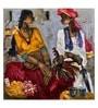 ArtCollective Village Canvas 12 x 12 Inch Framed Art Print