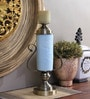 Artelier Blue & Gold Ceramic Candle Stand