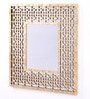 Artelier Gold Acrylic Squares Oriental Mirror Frame in Resin Finish