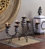 Artelier Grey & Black Metal Candle Stand
