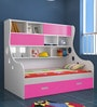 Arthur Expandable Bed with Storage in Pink & White  Colour by UNiCOS