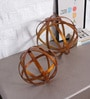 Gold Iron on An Axis Globes - Set of 2 by Artisans Rose