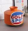Orange Iron Gold Spot Painted Vase by Artisans Rose