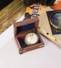 Artshai Brown Brass Antique Victoria London Pocket Watch with Chain