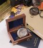 Brown Sheesham Wood & Brass Victorian Pocket Watch with Chain by Artshai