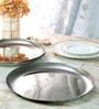 Arttdinox Pink Bloom Texture Stainless Steel Dinner Plate - Set of 6