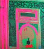 ARTychoke Multicolor Silk 12 x 12 Inch Alcove Cushion Cover
