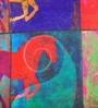 ARTychoke Multicolor Silk 16 x 16 Inch Horse Swirl Cushion Cover