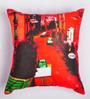 ARTychoke Red Silk 12 x 12 Inch Street Cushion Cover