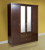 Astra Four Door Wardrobe in Wenge Colour