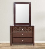 Astra Solidwood Dresser with Mirror in Wenge Colour