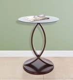 Astra Telephone Stand with Black Glass in Rosewood Finish
