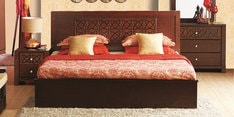 Astra King Size Bed with Storage in Walnut Finish