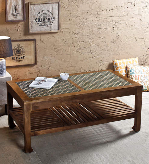 Ashley Morgan Handpainted Coffee Table In Paintco Walnut Finish By Fabuliv