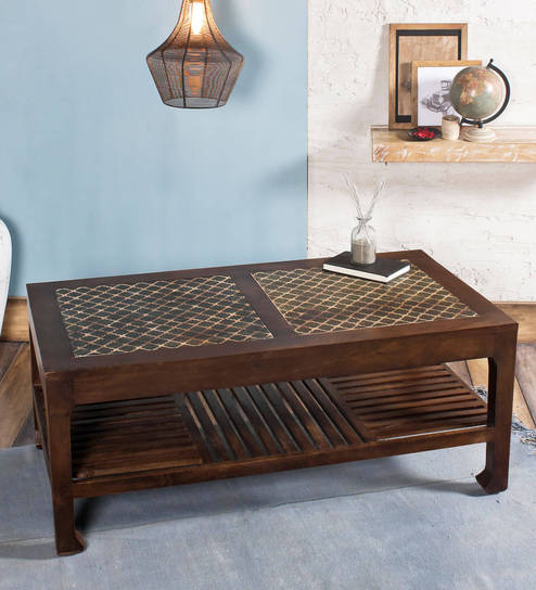 Ashley Vintage Handpainted Coffee Table In Paintco Walnut Finish By Fabuliv