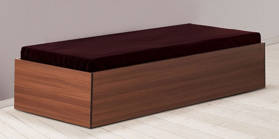 Buy aspire divan bed with box storage in classic walnut for Box divan beds