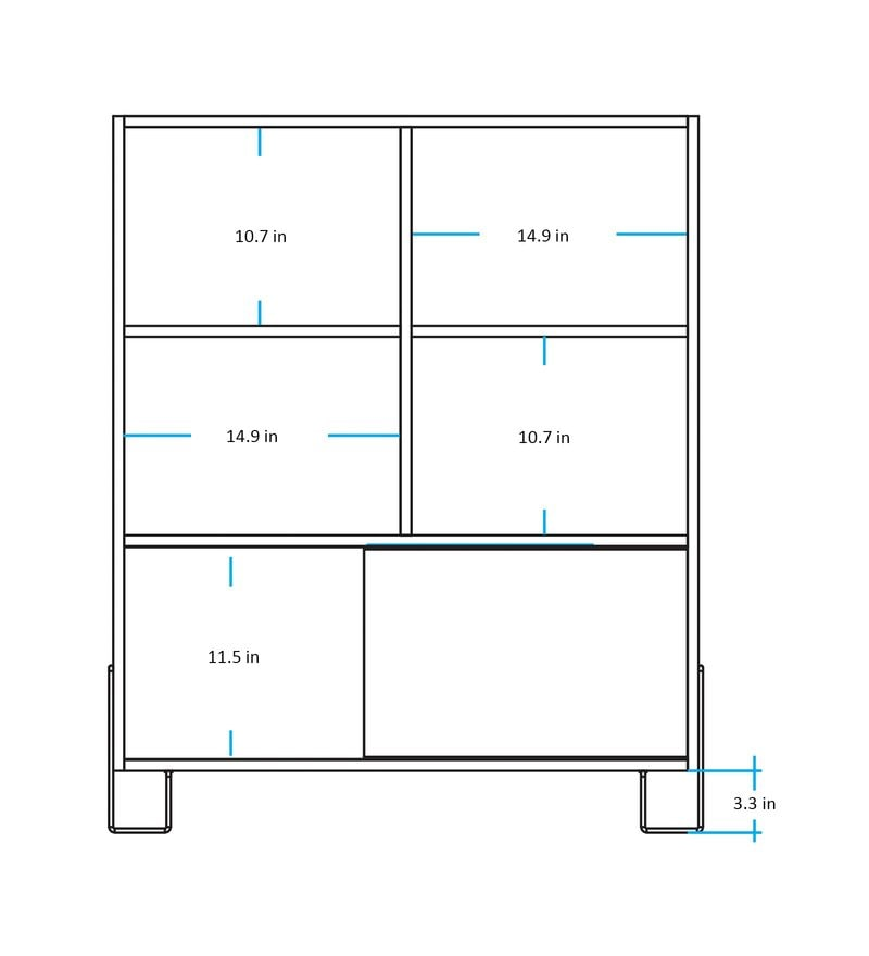 Buy asahi display unit cum book shelf in yellow white finish by click to zoom inout asfbconference2016 Choice Image