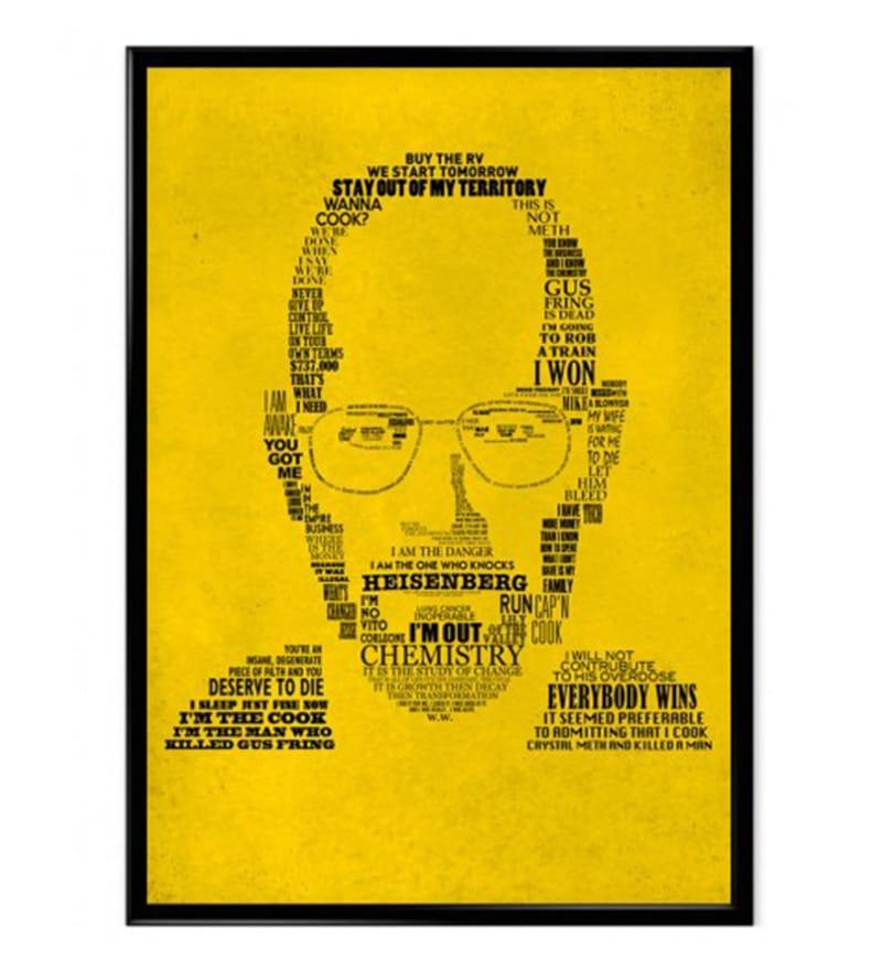 Heisenberg Poster 12 x 18 Multicolour Breaking Bad