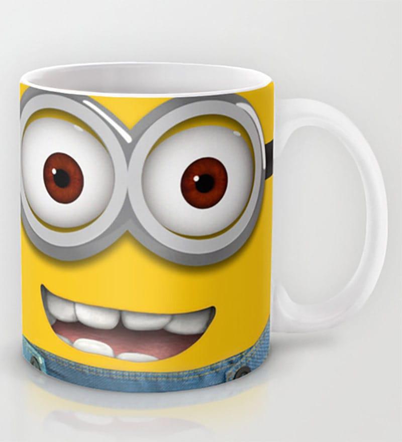 Astrode Minion Lovely Face Ceramic 325 ML Mugs