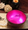 Asian Artisans Vietnamese Pink Bamboo and Lacquer Bowl