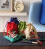 Asian Artisans Cotton Travel Accessory Pouch - Set of 5