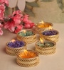 Multicolour Wax Tealight - Set of 6 by Asian Artisans