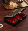 Golden Leaves Wooden Grey Jewellery Box by Asian Artisans