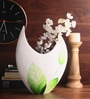 Asian Artisans Multicolour Wooden Big Round Leaves Vase