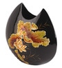 Multicolour Wooden Golden Flowers Vase by Asian Artisans