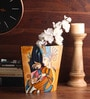 Multicolour Wooden Lacquer Picasso with Girls Face Vase by Asian Artisans