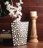 Multicolour Wooden Lacquer Polka with Shells Vase by Asian Artisans