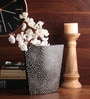 Asian Artisans Multicolour Wooden Lacquer Shell Design Vase