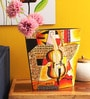 Multicolour Wooden Vietnamese Picasso Lacquer-Finish Vase by Asian Artisans
