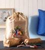Asian Artisans Silk Cream Travel Accessory Pouch - Set of 3