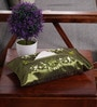 Asian Artisans Green Silk Vietnamese Tissue Box Cover