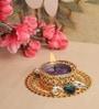 Asian Artisans Golden Crystals Metal Tea Light Holder
