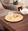 Asian Artisans Vietnamese Golden Wood & Lacquer Coating Round Platter