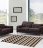 Asterlane Multicolour Woolen 96 x 60 Inch Stripes Rectangular Are Rug