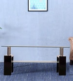 Atlas Coffee Table with Glass Top & Shelf