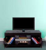 Atlas Entertainment Unit in Black Finish