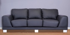 Atlanta Three Seater Sofa in Jet Black Colour