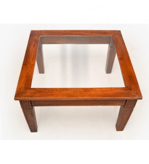 Fine Attractive Glass Top Coffee Table In Mango Wood Download Free Architecture Designs Scobabritishbridgeorg