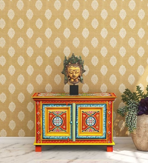 Atharv Solid Wood Hand-Painted Cabinet by Mudramark