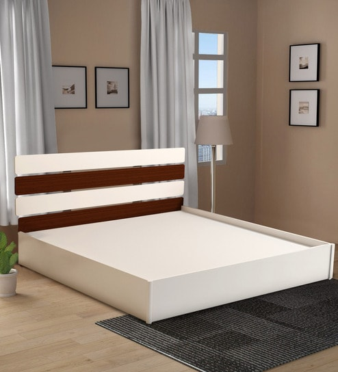 Tremendous Athens King Size Bed In White Teak Finish By Home City Uwap Interior Chair Design Uwaporg